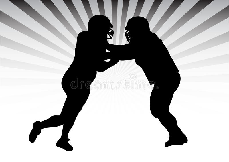 Football duel royalty free stock photos