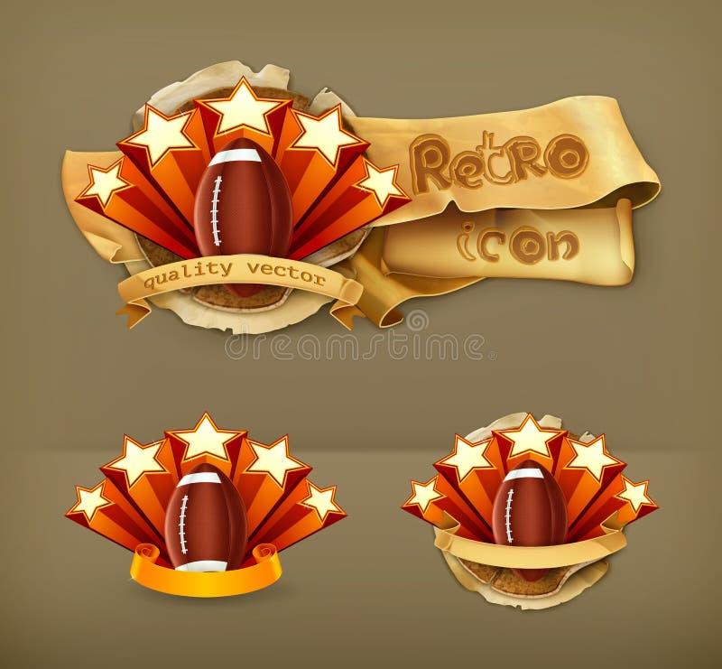 Football Emblem, vector icon vector illustration