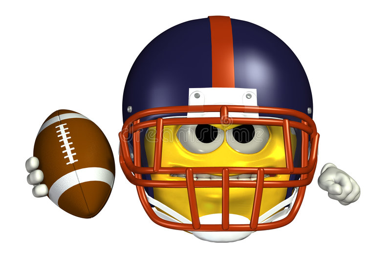 Football Emoticon - with clipping path royalty free illustration