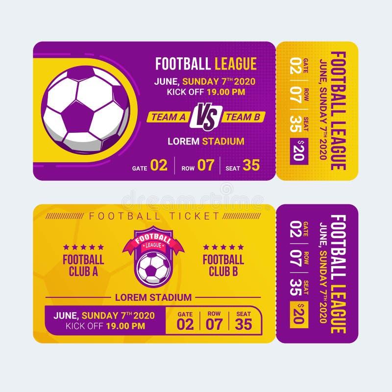 Football entry ticket template vector illustration. Football entry ticket template and great for sport ticket vector illustration royalty free illustration