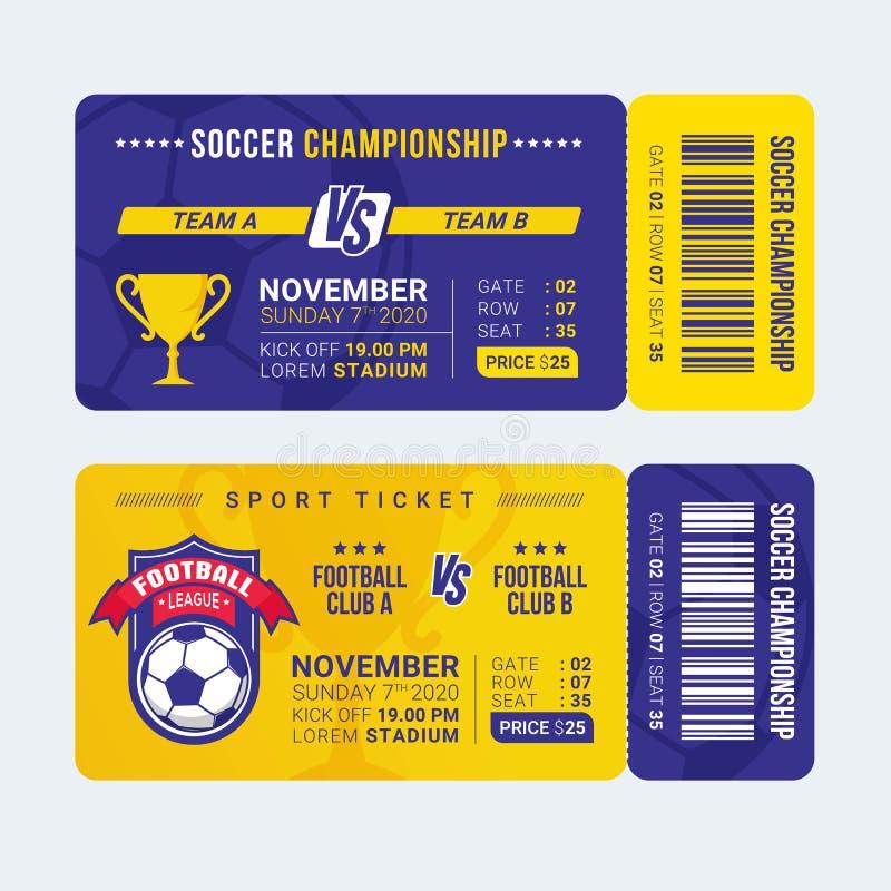 Football entry ticket template vector illustration. Football entry ticket template and great for sport ticket vector illustration stock illustration
