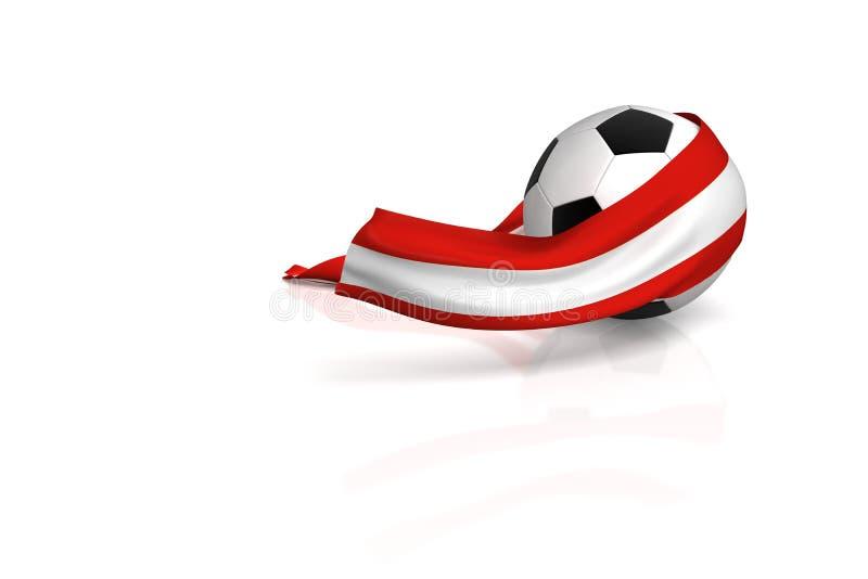 Download Football fan Austria stock illustration. Image of 2008 - 4652623