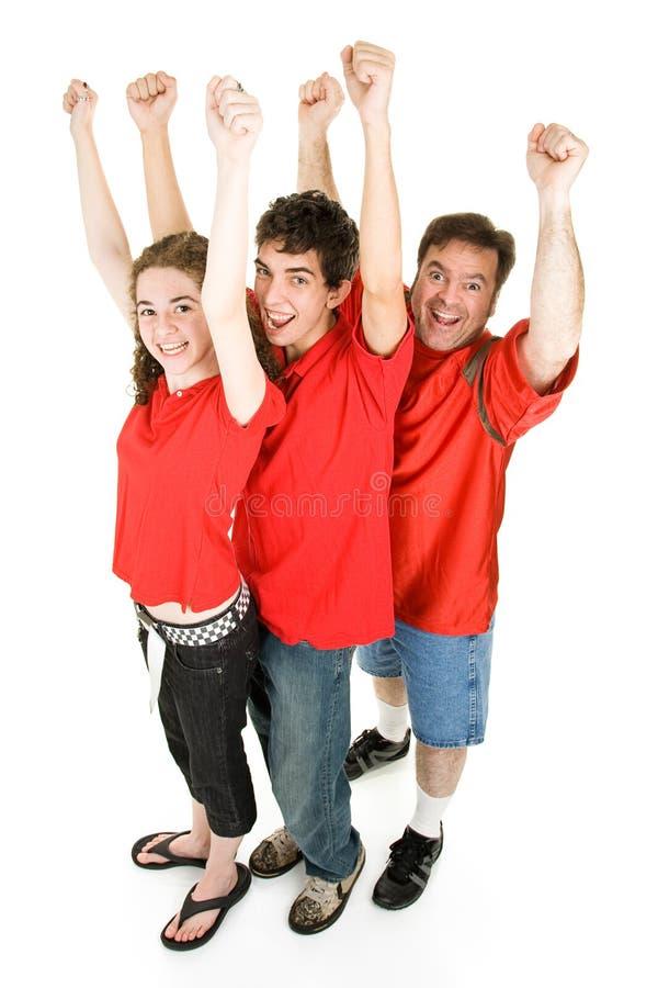 Football Fans Cheering Royalty Free Stock Photo