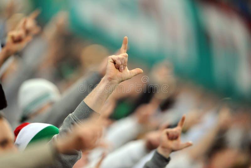 Football fans, hooligans royalty free stock photos