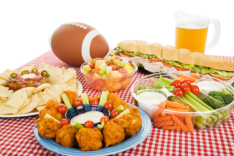 Download Football Feast stock photo. Image of crudette, fried, fattening - 6440704