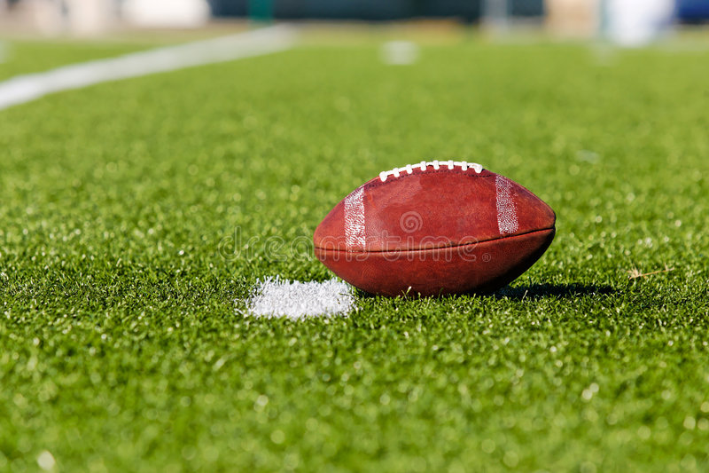 Football on Field royalty free stock photos