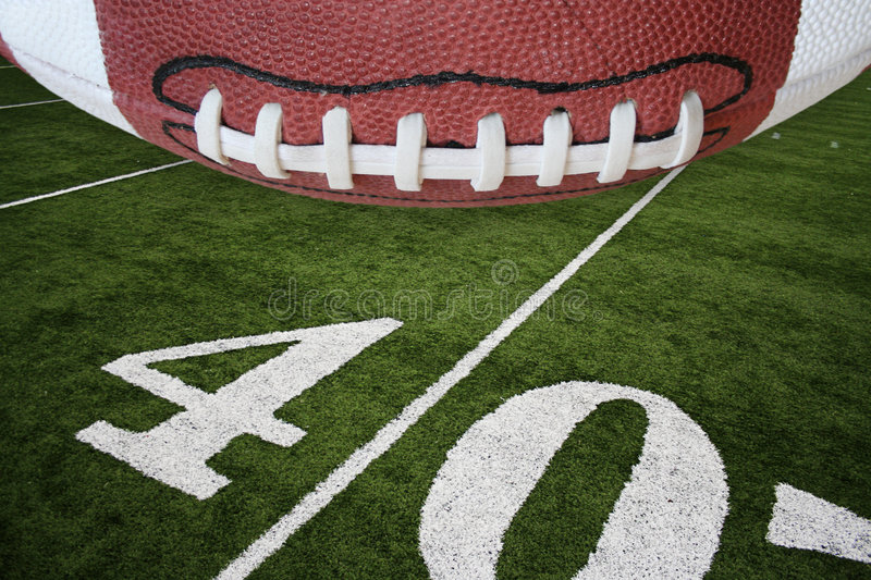 Football and field royalty free stock photography