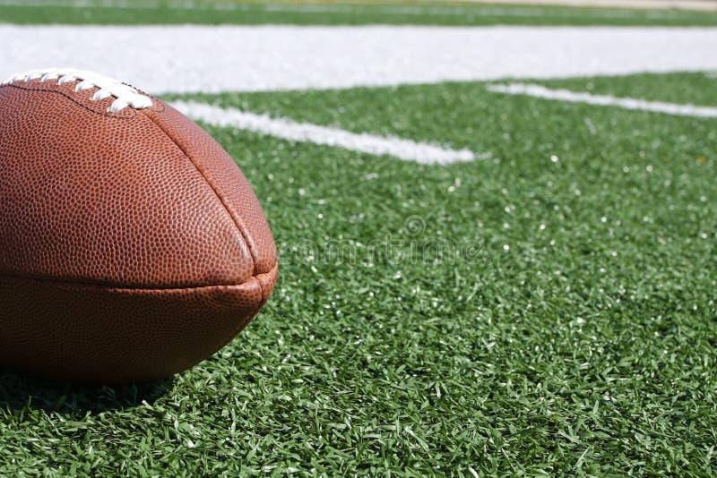 Football on the field stock photos