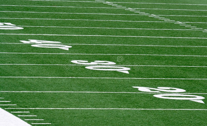 American Football In Blue Sky With Clipping Path. Stock ...