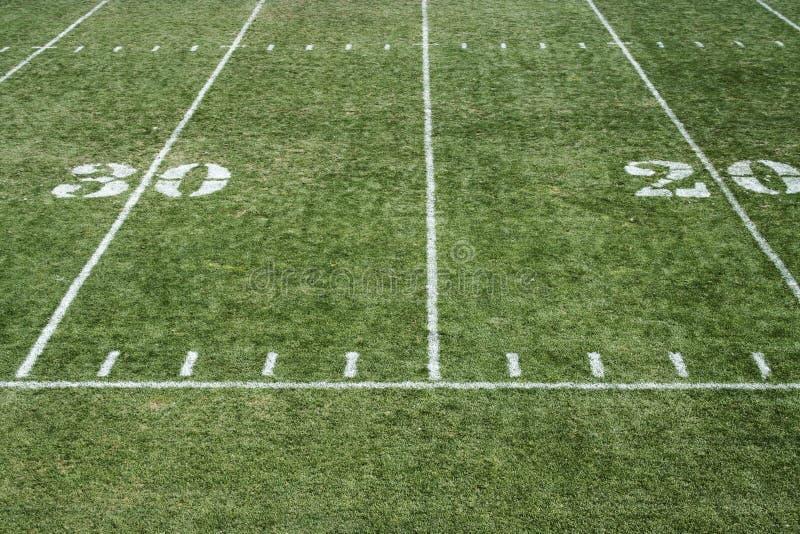 Football field grass stock image