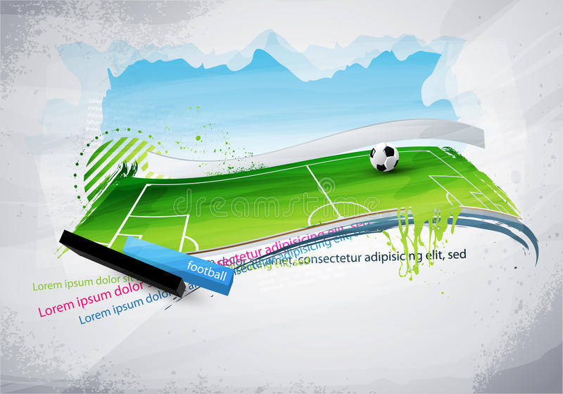 Download Football field painted stock vector. Illustration of design - 16014646