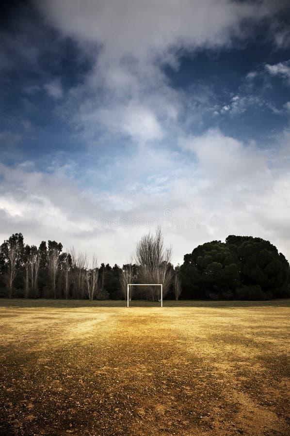 Football field in a park