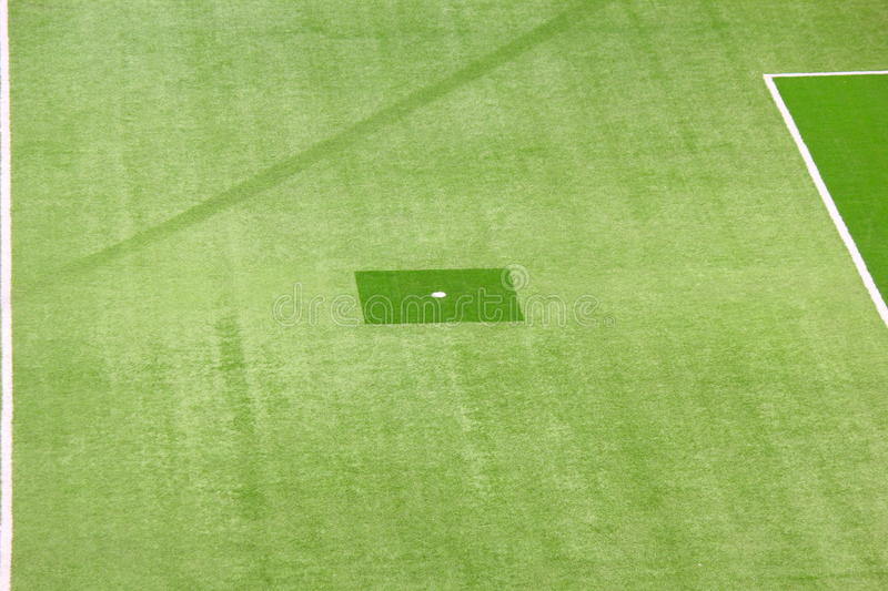 Football field. Set point penalty kick in soccer royalty free stock image