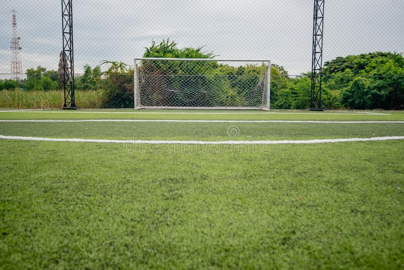 Football field or soccer field. Spot royalty free stock photography