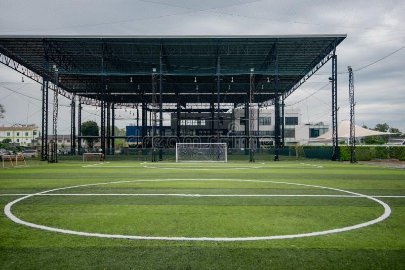 Football field or soccer field. Spot royalty free stock photo