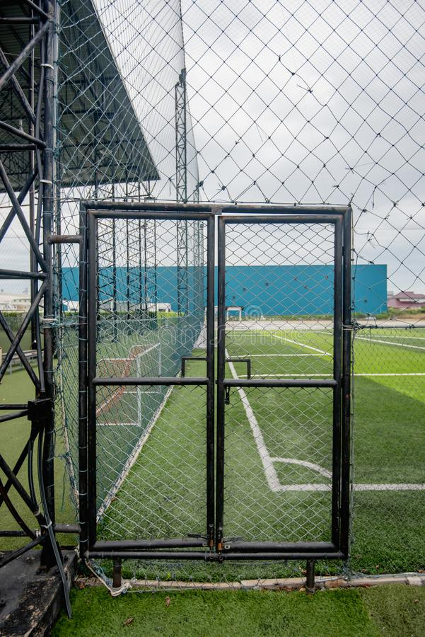 Football field or soccer field. Spot royalty free stock images