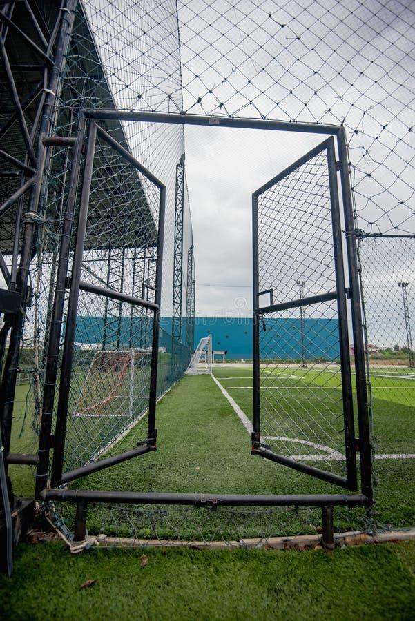 Football field or soccer field. Spot royalty free stock image