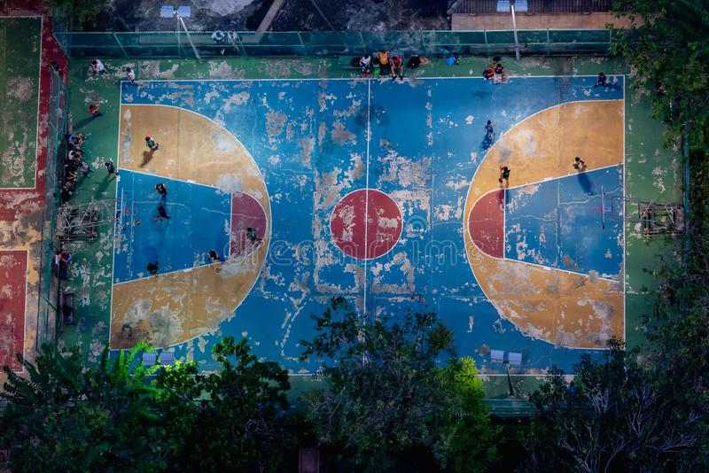 Football field or soccer field. Top view royalty free stock images