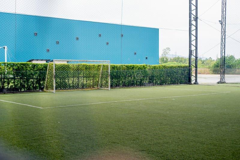 Football field or soccer field. Football stadium royalty free stock photography