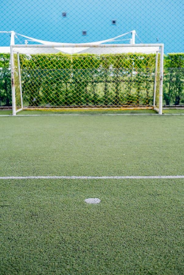 Football field or soccer field. Football stadium royalty free stock image