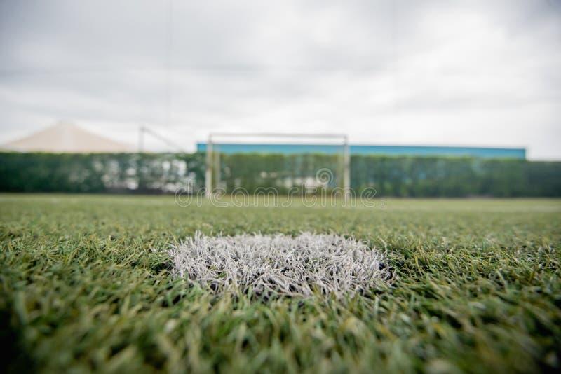 Football field or soccer field. Football stadium royalty free stock photo