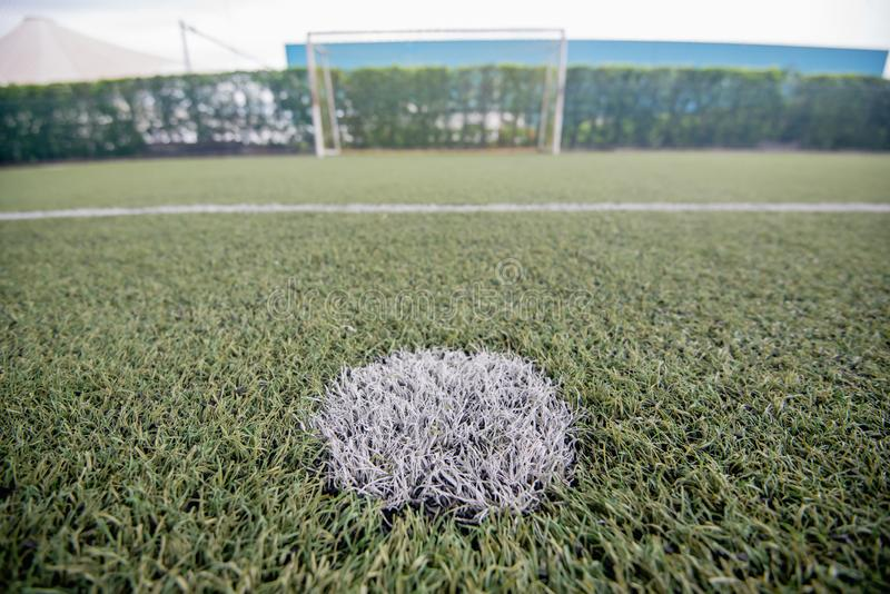 Football field or soccer field. Football stadium royalty free stock photos