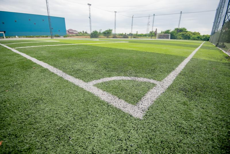 Football field or soccer field. Football stadium stock photography