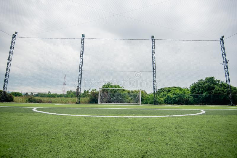 Football field or soccer field. Football stadium royalty free stock images