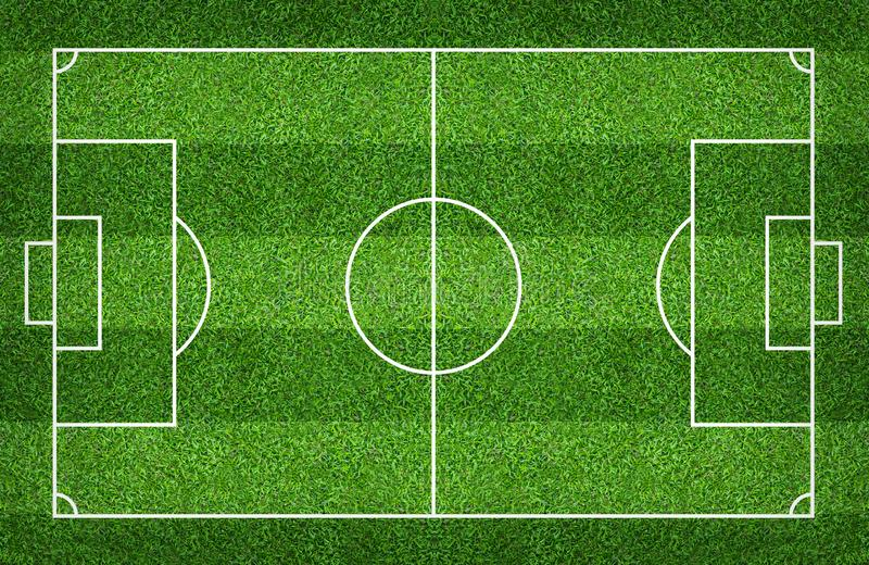 Football field or soccer field for background. Green lawn court for create game royalty free stock photo