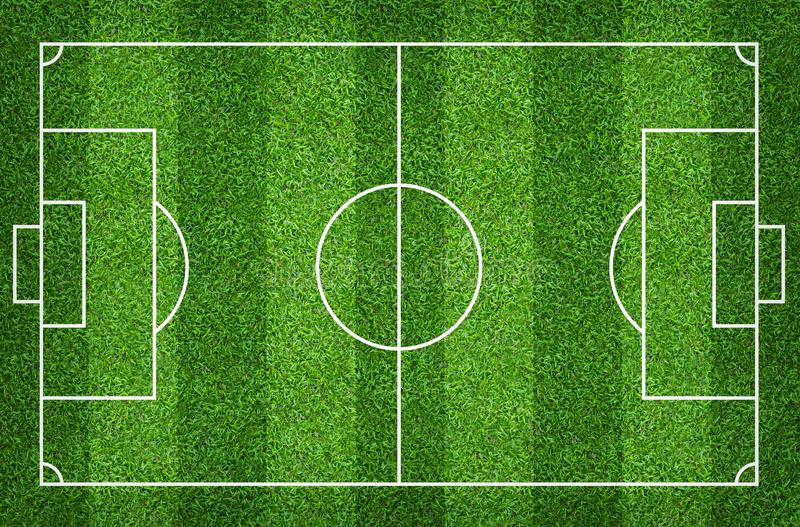 Football field or soccer field for background. Green lawn court for create game. Football field or soccer field for background. Green lawn court for create sport royalty free illustration