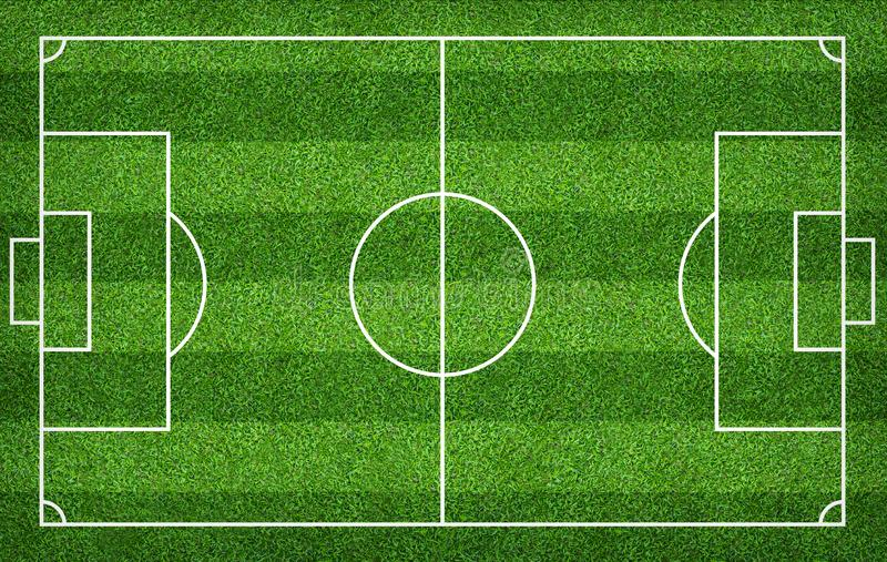 Football field or soccer field for background. Green lawn court for create game. Football field or soccer field for background. Green lawn court for create sport vector illustration
