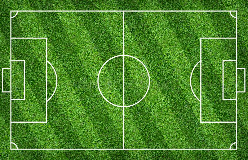 Football field or soccer field for background. Green lawn court for create game. Football field or soccer field for background. Green lawn court for create sport stock illustration