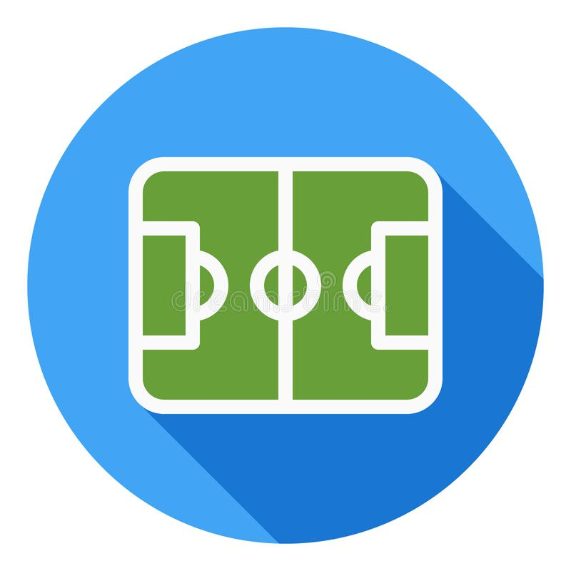 Football Field sports vector icon, Sports field icon, football field symbol. Modern, flat long shadow vector icon stock illustration