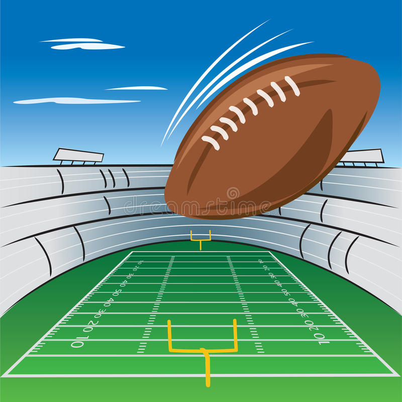 Download Football field and stadium stock vector. Image of touchdown - 20904597