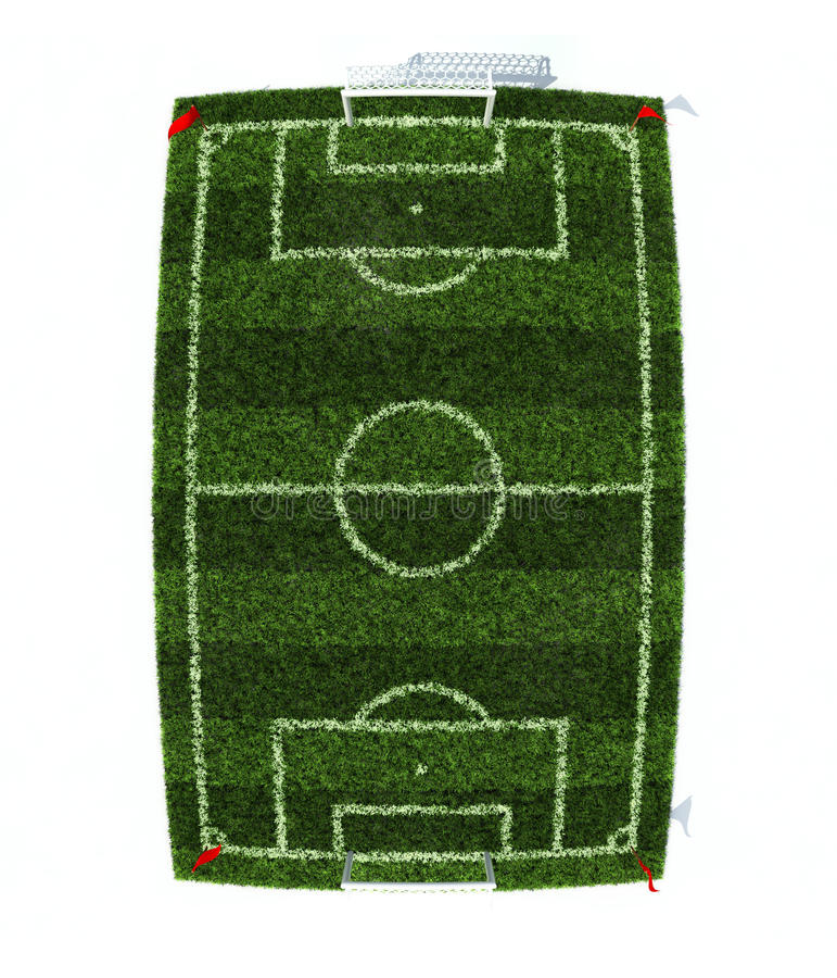 Download Football field top view stock illustration. Illustration of south - 16000574