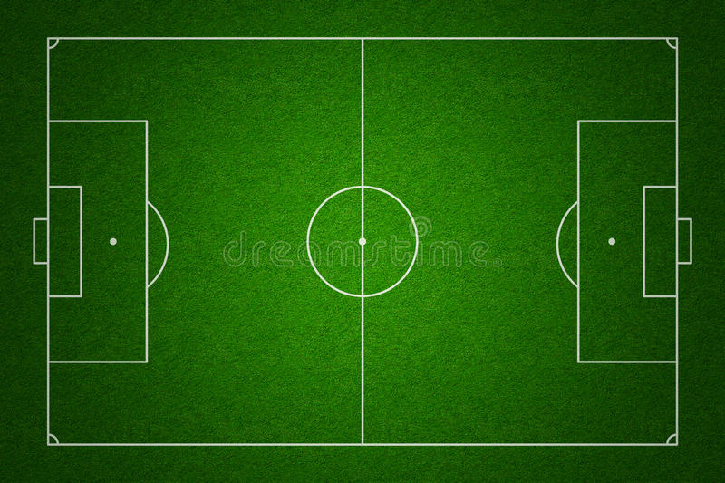 Download Football Field Top View With Standard Markings Stock Illustration - Image: 22853667