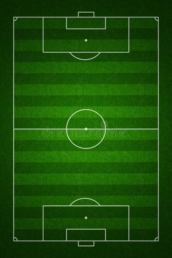 Free Football Field Top View With Standard Markings Stock Photos - 22853433