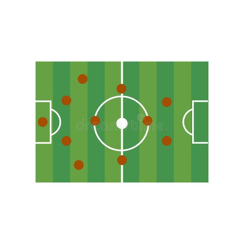 Football field 4-4-2. On the white background. Vector illustration vector illustration