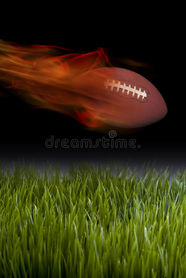 Football on Fire. royalty free stock photography