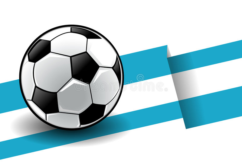 Football with flag - Argentina stock illustration