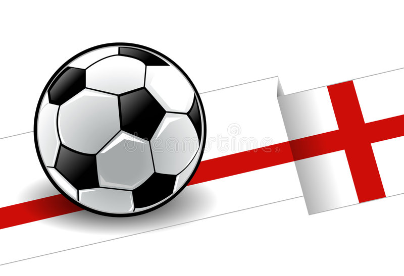 Football with flag - England vector illustration