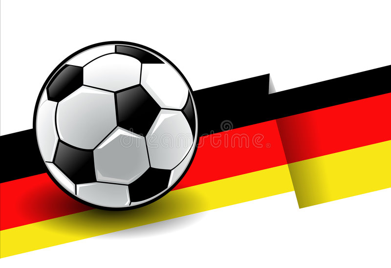 Football with flag - Germany stock illustration