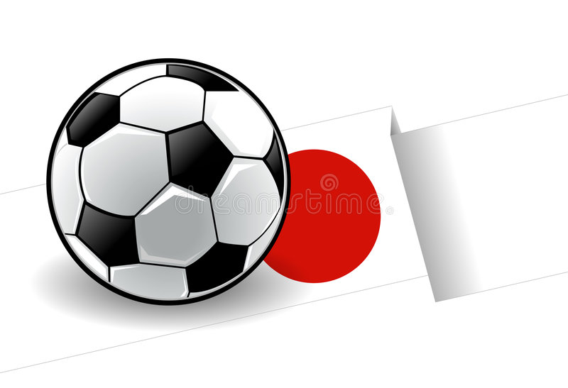 Football with flag - Japan vector illustration