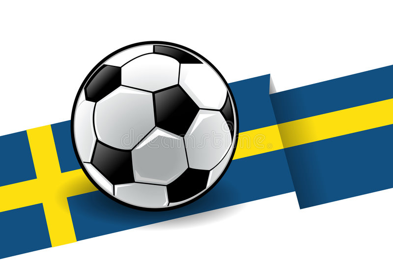 Football with flag - Sweden vector illustration