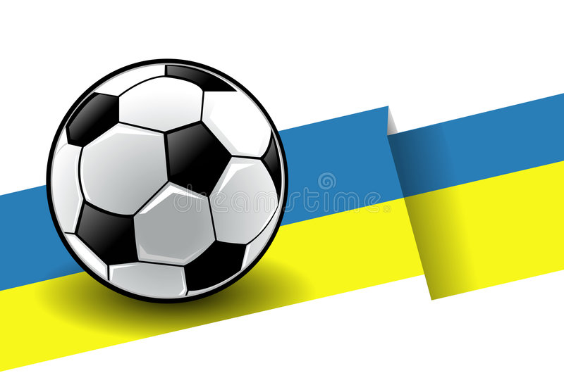 Football with flag - Ukraine stock illustration