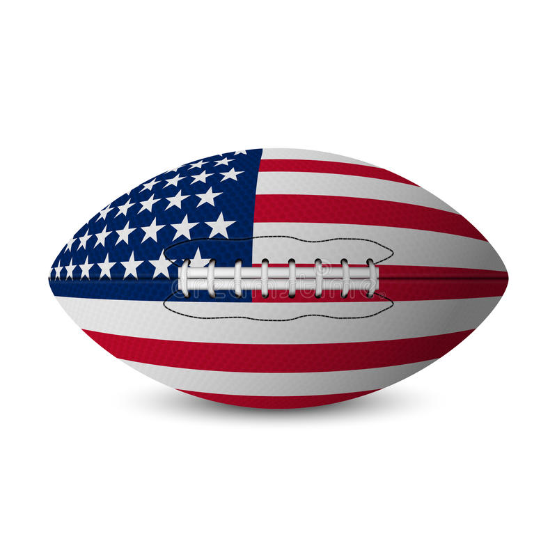 Football flag of USA royalty free illustration