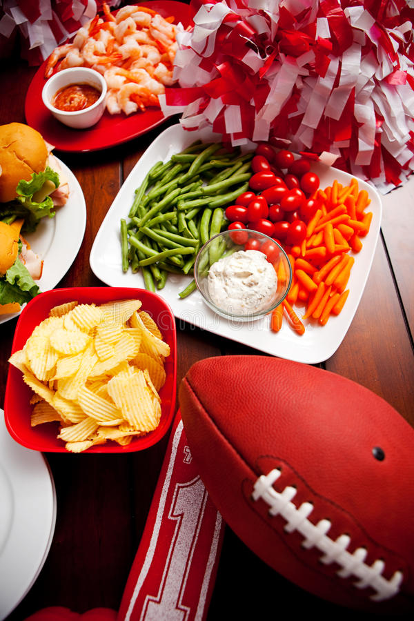 Free Football: Football Party Food Royalty Free Stock Images - 45100739