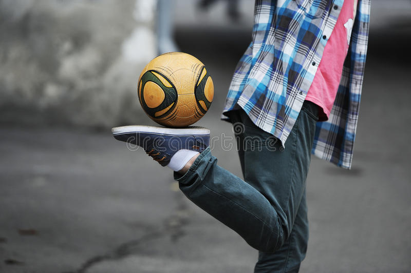 Download Football freestyle stock photo. Image of acrobatics, sport - 39512898