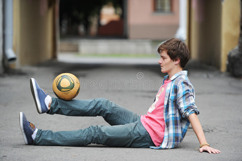 Download Football freestyle stock photo. Image of male, house - 39512906