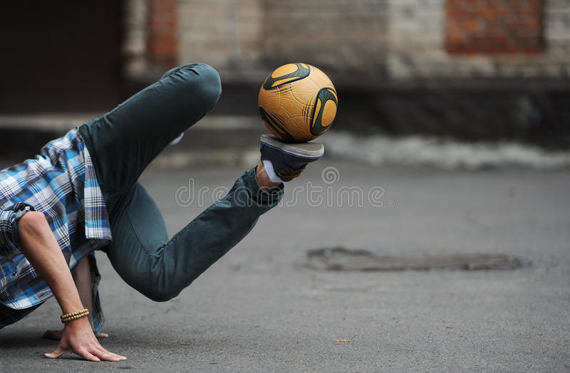 Download Football freestyle stock photo. Image of speed, playing - 39513124